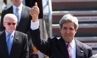 Menlu AS, John Kerry  berkunjung di Filipina.