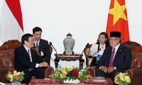 Tonggak merah bersejarah dalam hubungan kemitraan strategis Vietnam-Indonesia