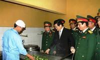 Presiden Truong Tan Sang: KODAM no.1 meningkatkan kekuatan-nya yang  terpadu