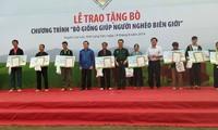 Presiden Vietnam,Truong Tan Sang menghadiri acara  pemberian  sapi bibit  kepada  kaum miskin