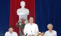 Deputi Perdana Menteri Vietnam, Vu Van Ninh melakukan temu kerja dengan pimpinan provinsi Khan Hoa