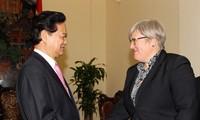 PM Vietnam, Nguyen Tan Dung  menerima Wapres WB Rachel Kyte