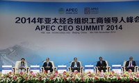 Presiden Vietnam TruongTan Sang menghadiri KTT Badan Usaha APEC-2014