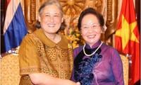 Wapres Vietnam, Nguyen Thi Doan menerima Putri Thailand, Maha Chakri Sirinborn