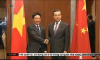 Deputi PM, Menlu Vietnam  dan Menlu Tiongkok  berbahas tentang masalah Laut Timur.