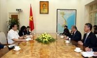 Deputi PM Vietnam, Hoang Trung Hai menerima Ketua Komite Kerjasama Ekonomi Mekong JCCI