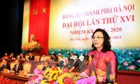 Penutupan Kongres ke-16 Organisasi Partai Komunis Vietnam kota Hanoi untuk masa bakti 2015-2020.