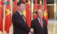 Ketua MN Vietnam Nguyen Sinh Hung melakukan pertemuan dengan Sekjen, Presiden Tiongkok, Xi Jinping