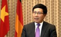 Vietnam  berharap supaya mendorong secara menyeluruh dan memperdalam lebih lanjut lagi hubungan kemitraan strategis   yang ekstensif dan intensif dengan RF.Jerman