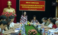 Kepala Departemen Penggerakan Massa Rakyat KS PKV, Truong Thi  Mai mengadakan temu kerja  Pengurus Besar  Asosiasi Lansia  Vietnam
