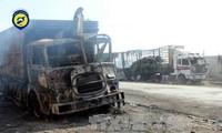 Rusia menolak  tuduhan  bahwa negara ini menyerang iring-iringan kendaraan bantuan dari PBB
