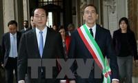 Presiden Vietnam, Tran Dai Quang bertemu dengan Walikota Kota Milan dan Ketua Kawasan Lombardia