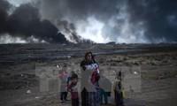 IS menggunakan pesawat terbang tanpa pilot untuk menyerang tentara di kota Mosul, Irak