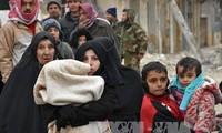 Rusia  mengangkut barang bantuan ke sebelah Timur kota Aleppo