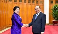 PM Vietnam, Nguyen Xuan Phuc menerima Menteri Kantor Perdana Menteri Laos