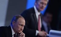 Presiden Rusia, Vladimir Putin  mengadakan jumpa pers tahunan akhir tahun