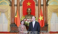 Presiden Vietnam, Tran Dai Quang menerima para Dubes yang datang menyampaikan surat mandat