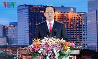 """Presiden Vietnam, Tran Dai Quang menghadiri pertemuan: """"Musim semi Kampung halaman-2017"""" di kota Ho Chi Minh"""