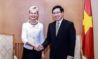 Deputi PM, Menlu Vietnam, Pham Binh Minh menerima  Gubernur Kawasan Ostergotland, Swedia