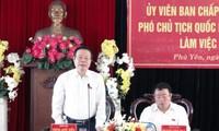 Wakil Ketua MN Vietnam, Phung Quoc Hien mengadakan temu kerja di provinsi Phu Yen