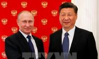 Presiden Rusia menyambut Presiden Tiongkok di Istana Kremlin