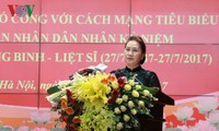 Ketua MN Vietnam, Nguyen Thi Kim Ngan menghadiri Konferensi memuji para tipikal yang berjasa kepada revolusi di  pasukan keamanan publik rakyat