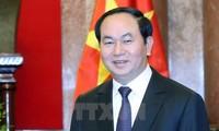 Presiden Vietnam, Tran Dai Quang mengirim surat untuk mengucapkan  selamat sehubungan dengan Festival Medio Musim Gugur 2017