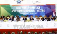 Jumpa pers untuk mengumumkan hasil Konferensi Menteri Keuangan APEC