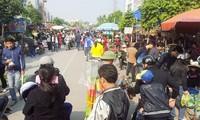 Pasar Hang  di Kota Hai Phong pada  hari-hari akhir tahun