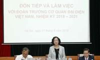 Kepala Departemen Penggerakan Massa Rakyat KS PKV  mengadakan  temu kerja dengan para Dubes, Kepala Kantor Perwakilan Vietnam di luar negeri yang baru diangkat