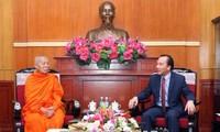 Viet Nam dan Laos memperkuat  kerjasama agama Buddha