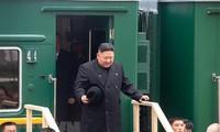 Pemimpin RDRK   telah pulang kembali ke Pyong Yang  setelah  pertemuan puncak  di Rusia.