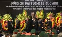 Pembukaan upacara belasungkawa  kepada mantan Presiden, Jenderal Le Duc Anh