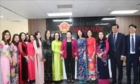 """Ketua MN Nguyen Thi Kim Ngan menghadiri acara memperingati HUT ke-10  pelaksanaan Resolusi tentang penaikan tingkat menjadi koran menjadi koran I dan pengubahan  menjadi nama Koran """"Perwakilan Rakyat"""""""