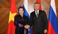 Koran-koran Rusia memberitakan secara menonjol kabar tentang kunjungan resmi Ketua MN Vietnam, Nguyen Thi Kim Ngan di Rusia