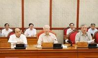 Sekjen, Presiden Vietnam, Nguyen Phu Trong memimpin sidang Polit Biro KS PKV