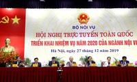 Deputi PM Truong Hoa Binh menghadiri Konferensi nasional online tentang penggelaran tugas tahun 2020 dari Instansi Dalam Negeri