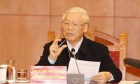 Sekjen, Presiden Nguyen Phu Trong memimpin sidang Sub-komisi Dokumen Kongres Nasional ke-13 PKV
