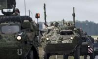 NATO melakukan latiahan perang di Latvia