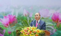 PM Vietnam, Nguyen Xuan Phuc menghadiri  Kongres ke-10  Kompetisi  Pasti Menang  untuk seluruh tentara