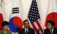 Leaders of US, Japan, South Korea discuss North Korea