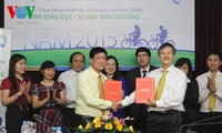 1,200 bicycles granted to disadvantaged children