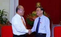 Politburo member To Huy Rua hails Japanese special advisor's support