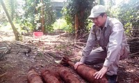Voluntary activities to support victims of bombs and mines in Quang Tri