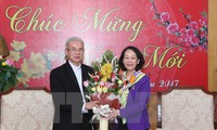 Party official hosts Tet reception for religious dignitaries