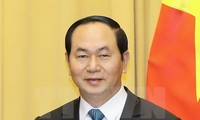President Tran Dai Quang receives foreign ambassadors