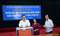 VFF Central Committee receives donations for Doksuri victims