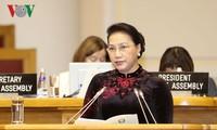Top legislator meets Russian and Chinese leaders