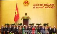 越南国会批准免去国家选举委员会和国防与安全委员会成员的职务