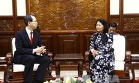 Le gouverneur de Fukushima reçu par Dang Thi Ngoc Thinh
